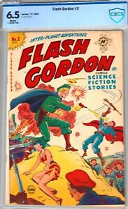 FLASH GORDON #2-CBCS 6.5-1950 FINE+ HARVEY SCI-FI COMIC
