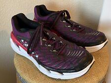 Hoka One One Vanquish 3 Running Shoes Purple Black 1014792 Womens Size 7.5 EUC