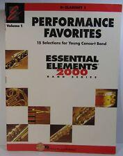 Hal Leonard Perf Favorites Essential Elements 2000 Series Bb Clarinet 1
