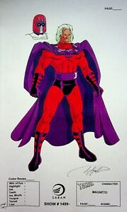 MAGNETO X-Men The Animated Series SIGNED Frank Squillace Color Model Cel Copy