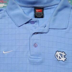 Team Nike Carolina Tar Heels Shirt Adult Medium Blue Polo Embroidered NCAA Mens