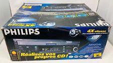 Vintage Philips CDR820 Audio CD Recorder 4X speed CD copier New in Box !!