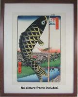 HIROSHIGE UTAGAWA Original Japanese Woodblock Print Reprint Ukiyoe Suidoubashi