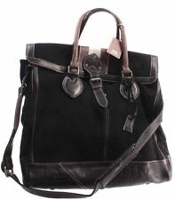 Borsa A Mano Tracolla Uomo LA MARTINA Camoscio Pelle Vitello Nera Week End Bag