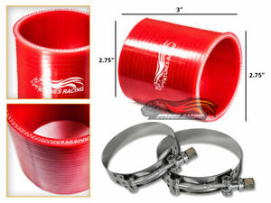 "RED 2.75"" Silicone 3ply Coupler Hose Turbo Intake Intercooler For Volkswagen"