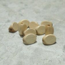 8x10mm TRIANGLE wooden beads wood NATURAL (100 beads)