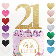 21 cake topper number any age birthday glitter rose gold 16 18 30 40 50 60 70 80