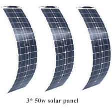 Mono 150w 3*50w Flexible Solar Panel Cell for RV Boat Caravan 12v Battery Charge