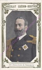 Chromo CHOCOLAT GUéRIN BOUTRON Prince Louis de Battenberg  n 317 / 500