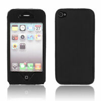 Black PU Leather Mobile Phone Pouch Case for Apple iPhone 4G 4GS