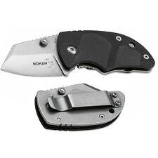 """Boker Plus DW-2 Knife 1.625"""" AUS8A S. Steel Blade & Black Zytel & SS Handle"""
