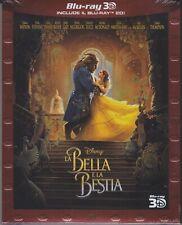 Blu-Ray 3D + Blu-Ray 2D Disney La Belle Et La Bête Avec Emma Watson Nouveau 2017