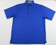 FOOTJOY Shortsleeve Polyester/Spandex Blue Polo Golf Shirt Size L