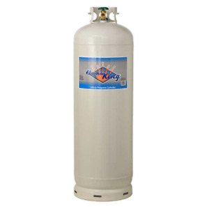 Flame King 100 lb Empty Steel Propane Cylinder Tank with POL Valve Outdoor Grill