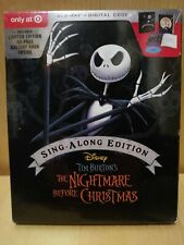 Nightmare Before Christmas Blu-Ray Digital Sing Along Edition Target w/ Book New