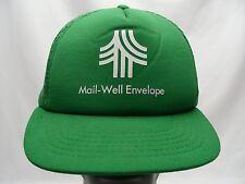 MAIL-WELL ENVELOPE - VINTAGE - TRUCKER STYLE ADJUSTABLE SNAPBACK BALL CAP HAT!