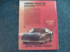 1984 PONTIAC FIREBIRD TRANS AM article / ad