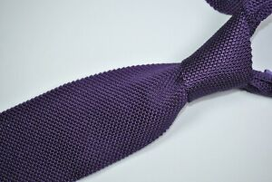 BROOKS BROTHERS SQUARE END SKINNY Tie 100% Silk Purple Color L55 W2.7