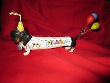 Rare Dachshund Dog Happy Birthday Whoopie Figurine Hot Diggity Westland Balloons