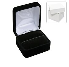 LOT OF 48 <HIGH QUALITY> VELOUR RING GIFT BOXES BLACK RING BOX JEWELRY BOXES