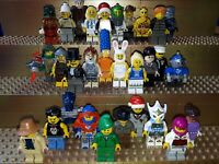 30 Lego City Figuren mit Kopfbedeckung. Minifig, Town, Polizei, Arbeiter, C1