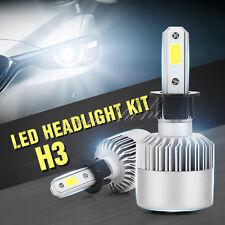 2X Philips H3 200W 23800LM Low Beam COB LED White Headlight Conversion Bulbs KIT