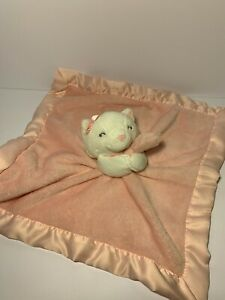 Carters White Kitty Cat Pink Baby Lovey Security Blanket Satin Plush 67676