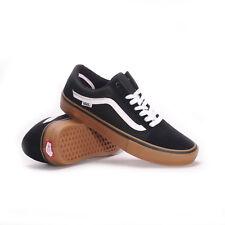 Vans Old Skool Pro (Black/Gum/White) Men's Skate Shoes