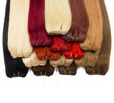Remy Echthaar tressen Haarverlängerung Extensions 100g weft schwarz blond ombre