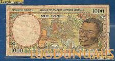 Afrique Centrale - 1000 Francs type 1991 -1993 Sign 15 C Congo Numéro 9360319092