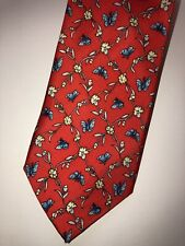 """NWT: Men's GAP Premium red patterned Neck Tie """"4X56 """" 100% Silk Made in USA"""