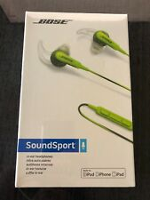 NEW Bose Sound Sport IN-EAR Green Headphones Earphone For Apple iPhone iPod