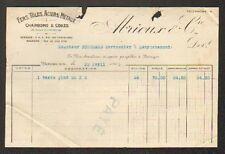 """BOURGES (18) FERS TOLES ACIERS METAUX CHARBONS """"ABRIOUX & Cie"""" en 1916"""