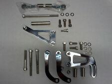 SB Chevy Polished Billet Alternator & Power Steering Pump Bracket Kit LWP 350 V8