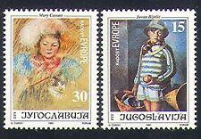 Yugoslavia 1991 Europe/Art/Cat/Painting/Artists/people 2v set (n33962)