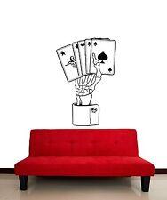 Wall Stickers Vinyl Decal Cards Gambling Poker Joker z1220