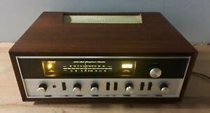 Allied 355 Receiver w/wood veneer cabinet - Tested/Serviced, Working.