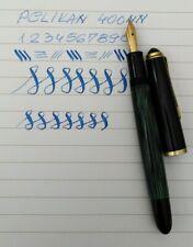 PELIKAN 400NN Green Striped Fountain Pen 14k EF Flex Nib Excellent Vintage