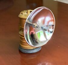 """New listing 1970's Vintage Premier Brass Carbide Miners Lamp w/ 4"""" Reflector Excellent Cond"""