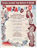 DING DONG THE WITCH IS DEAD Sheet Music THE WIZARD OF OZ Judy Garland 1939