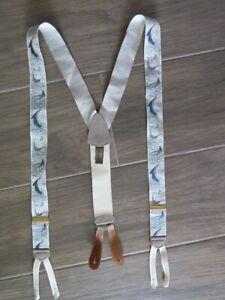 TRAFALGAR Swordfish Silk SUSPENDERS Braces