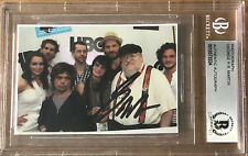 GEORGE RR MARTIN SIGNED BAS BGS PHOTOGRAPH GAME OF THRONES AUTOGRAPH SIGNATURE