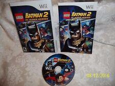 LEGO Batman 2: DC Super Heroes (Nintendo Wii, 2012) COMPLETE EXCELLENT LOOK BUY