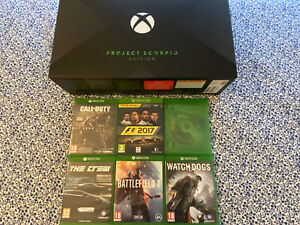 Microsoft Xbox One X Project Scorpio Edition 1TB Console + 6 Jeux