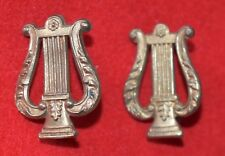 British Army. Royal Marines School of Music Genuine Collar Badges