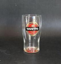 GOLDSTAR Gold Star Israel Israeli Dark Lager Beer 0.3L/10.14oz Clear Glass NEW