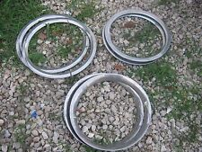 6 pcs Used Assorted 3 Sizes Vintage WHEEL TRIM RING RINGS good for decor