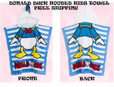 DONALD DUCK KIDS HOODED TOWEL FREE SHIPPING
