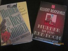 Murder in the Red Room & Murder in the Rose Garden Elliott Roosevelt LP Lot jk36