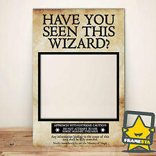 Have You Seen This Wizard? Harry Potter Party Decorations Frame Prop (80x110cm)